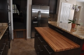 Completely Custom Built Kitchen and butcher block