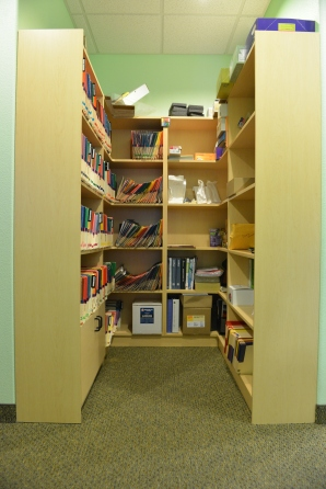 Custom bookshelf in Dentist office