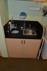 Custom sink in Dentist office