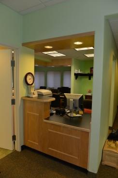 Custom desk in Dentist office